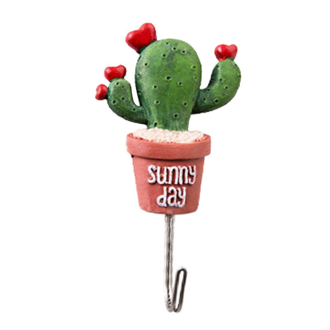 Cactus simulación de pequeño maceta acero inoxidable Robe Ganchos Luwu-Store