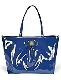 Veranda Place Patent Blossom Baby Bag - French Navy