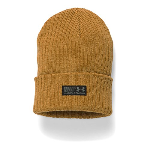 Under Armour Men's UA Truck Stop Beanie Gold Ore/Black Hat One - Hat Size Measuring Men