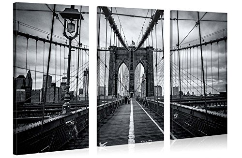 Large Canvas Print Wall Art - BROOKLYN BRIDGE WALK -