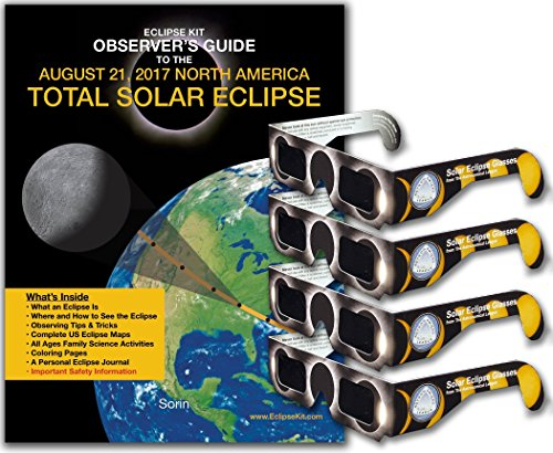 Price comparison product image Eclipse Kit Observer's Guide to the August 21, 2017 North America Total Solar Eclipse with 4 Pairs of Eclipse Glasses