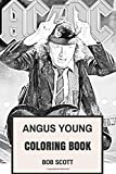 Angus Young Coloring Book: AC/DC Epic Guitarist and Symbol of Punk Devil Horns Inspired Adult Coloring Book
