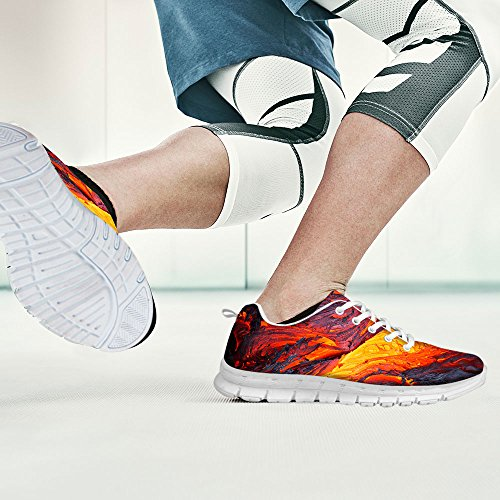 FOR U DESIGNS Fashion Unisex Flex Gusto Runner Mesh Breathable Train Sneaker Running Shoes Gray 3