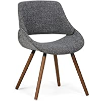 Simpli Home Malden Bentwood Dining Chair, Grey