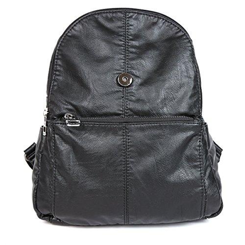 sac à main à qualité cuir dos De PU haute en lavé Noir XS160433 21KBARCELONA sac YfnvUCxqw1