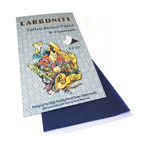 Tattoo Schablonen-Papier Carbonite 20 Blatt
