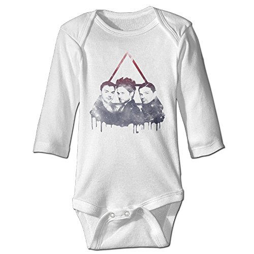 DW Infant 30 Seconds To Mars Long Sleeve Climb Clothes Romper White 24 Months