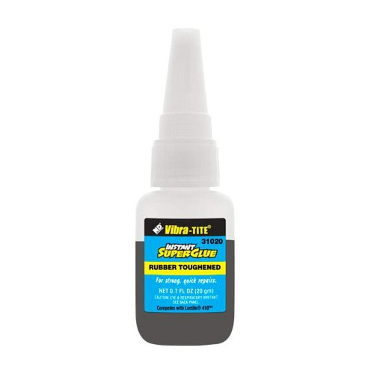 Vibra-TITE - 31020 310 Toughened Superglue: Gap Filling Black - 20 gm bottle