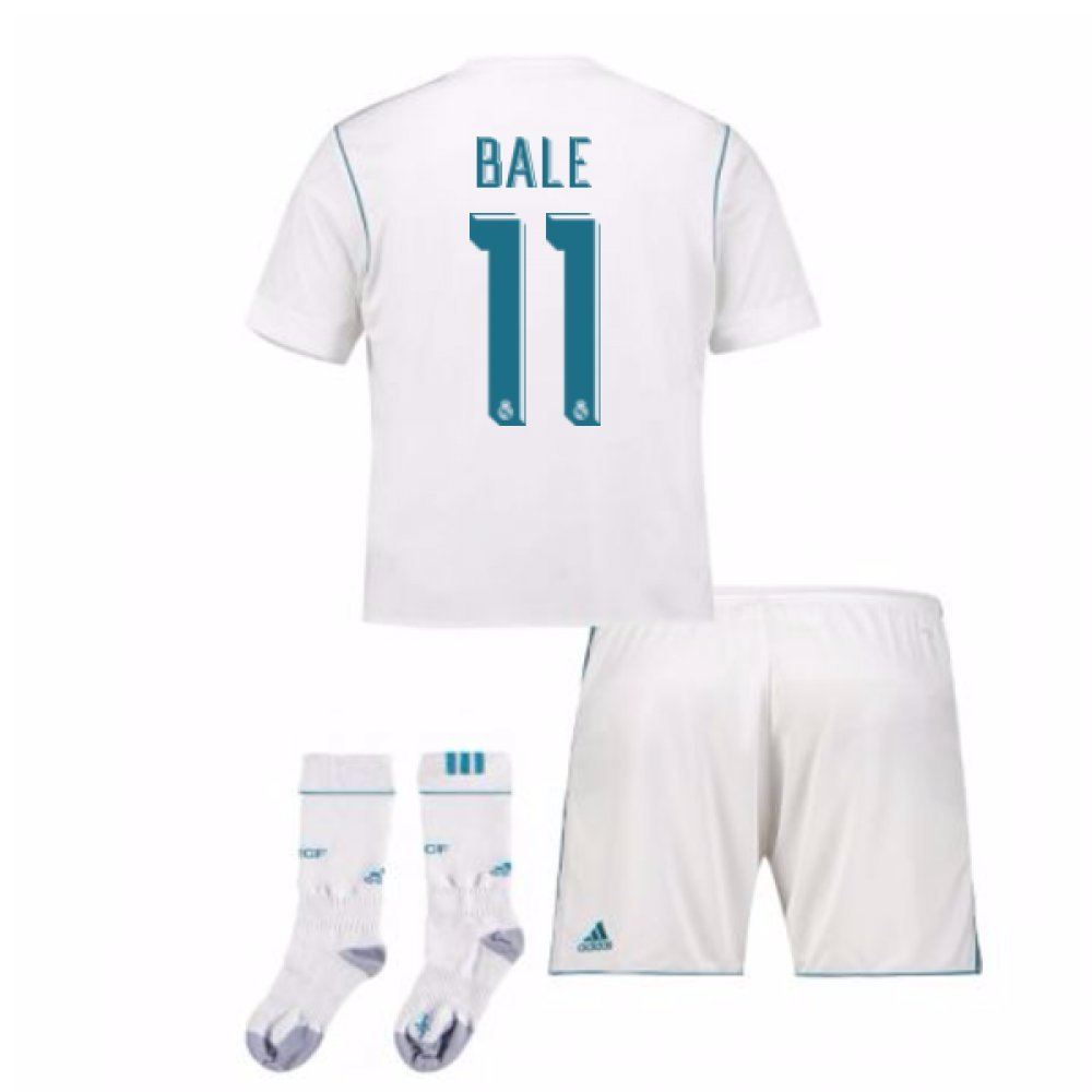 2017-17 Real Madrid Home Full Kit (Bale 11) B078CQDD66White Large Boys 30-32\