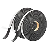 Foam Seal Tape,High Density Weather Stripping for Door and Window Seal Insulation,1/2 Inch W x 1/8 Inch T Single Sided Closed Cell Foam Seal Strip,2 Pack Total 32 Feet Long
