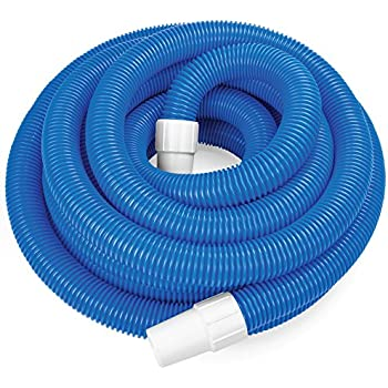 Splashtech 1 5 inch spiral wound swimming pool vacuum hose with swivel cuff 16 5 for Swimming pool vacuum hose ends