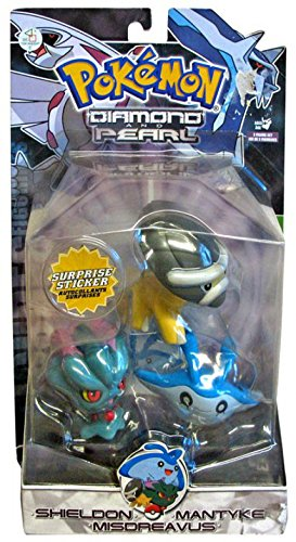 Pokemon Diamond and Pearl Series 3 Basic Figure 3-Pack Mantyke, Misdreavus and Shieldon