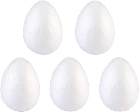 5 stücke Modellierung Styropor DIY Schaum Eier Decor Craft Weiß Kinder