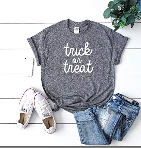 Trick Or Treat - Cute Funny Halloween Top - Womens Clothing - Fall Outfit - Halloween -