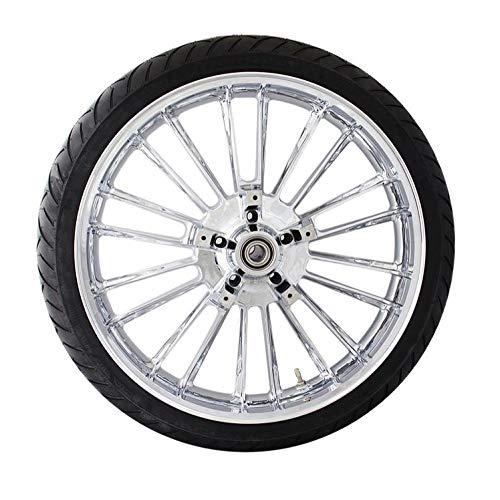 Coastal Moto METATL213CH Precision Cast Atlantic 3D Front Wheel with Tire - 21x3.5 - Chrome