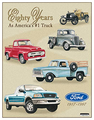 - Desperate Enterprises Ford Trucks - Eighty Years Tribute Tin Sign, 12.75
