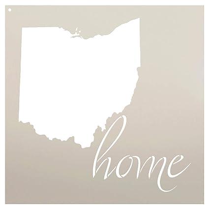 Amazon Com Home Ohio State Stencil By Studior12