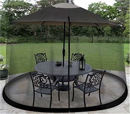 Superbe 9 Foot Umbrella Table Screen Enclosure Keep Bugs Mosquitoes Out Patio  Picnic Net  By#