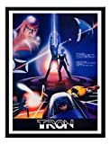 Iposters Tron Computer Graphics Movie Print Magnetic Memo Board Black Framed - 41 X 31 Cms (approx 16 X 12 Inches)