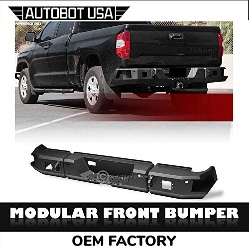 AutobotUSA Black Modular Rear Bumper Raptor Style HD Steel Full Width 2014-2019 for Toyota Tundra