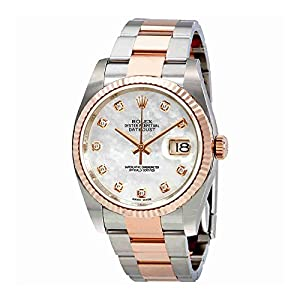 Rolex Oyster Perpetual Datejust Mother of Pearl Diamond Mens Watch 116231MDO