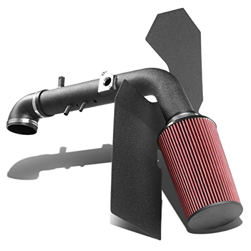 Toyota Tundra/Sequoia 4.7 2UZ Black-Coated Aluminum Cold Air Intake Pipe+Heat Shield+Red Filter Cold Air Intake Heat Shield