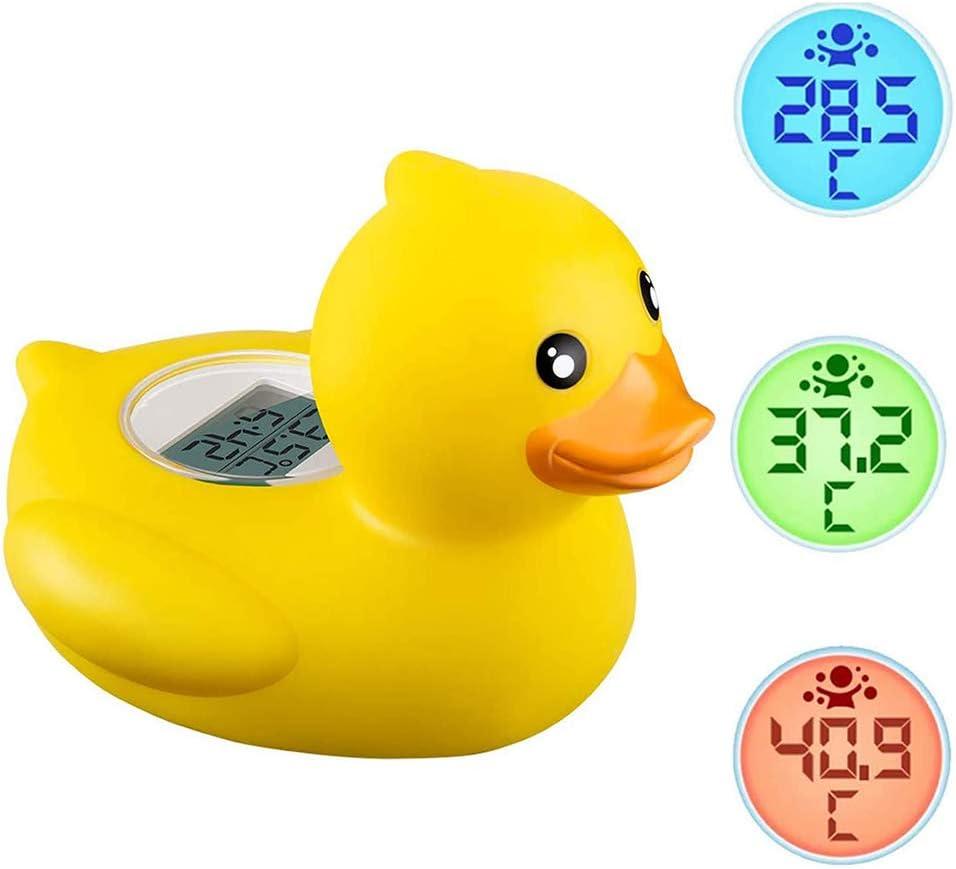 Term/ómetro De Ba/ño Para Beb/és,Term/ómetro Digital Temperatura Del Agua Del Ba/ño,Term/ómetro Flotante Para Ba/ñera Con Forma Pato,Juguete Flotante Para Ba/ño En La Piscina Ba/ñera Con Alarma Adverten