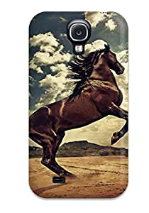 Best New Arrival Case Cover With Design For Galaxy S4- Rising Horse