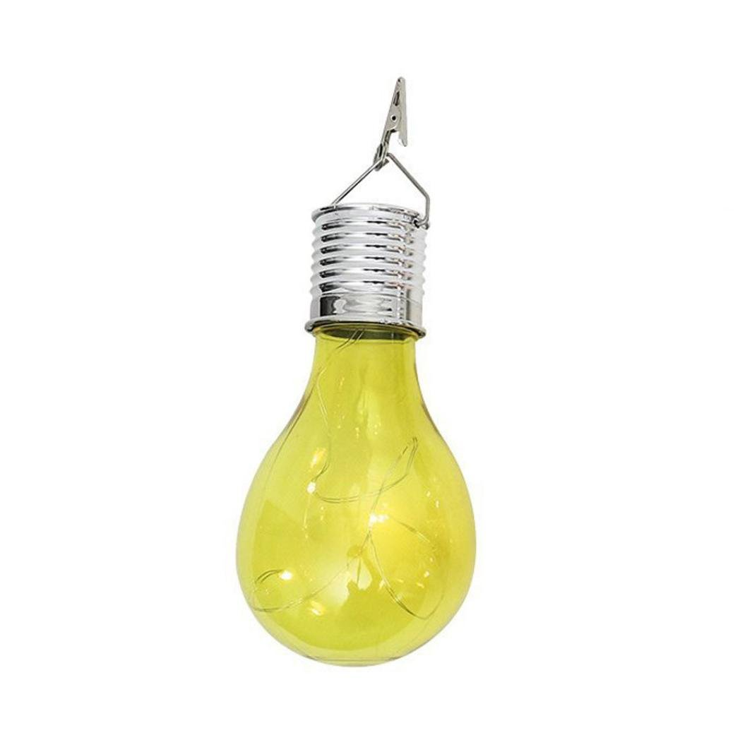 YJM Energy Saving Waterproof Solar Rotatable Outdoor Garden Camping Hanging LED Light Lamp Bulb Yellow