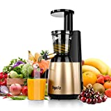 Argus Le Slow Juicer, Easy to Clean Masticating Juicer Extractor, Cold Press Juicer for High Nutrient Fruit and Vegetable Juice