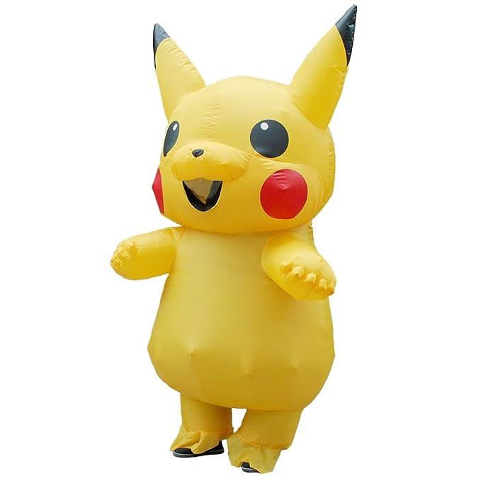 FYBR Nuevo Disfraz de Pikachu Inflable Amarillo Disfraz de ...