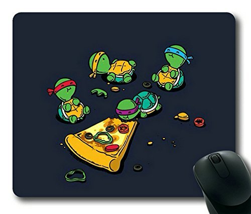 Mouse Rectangle Magnet - Teenage Mutant Ninja Turtles TMNT Eating Pizza Gaming Mouse Pad,Rectangle Mouse Pad