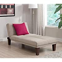 Contemporary Chaise Lounge - Seat Couch Sleeper Indoor Home Furniture Living Room Bedroom Guest Relaxation
