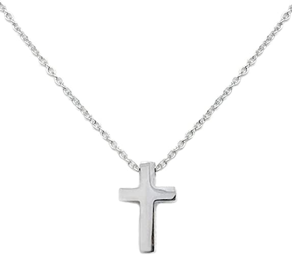 Amazon Com Small Simple Cross Pendant Stainless Steel Necklace