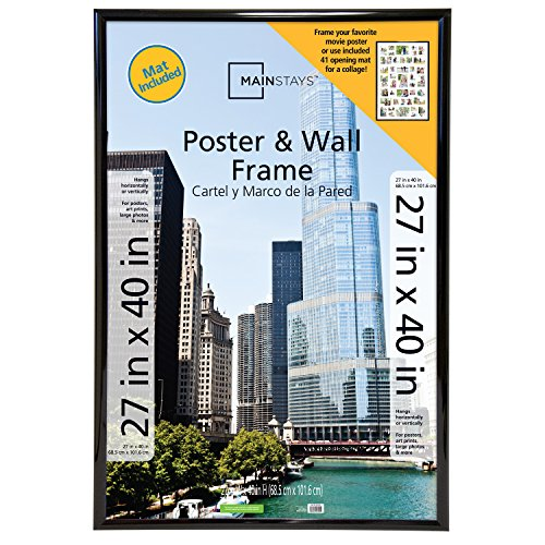 Mainstays 27x40 41-Opening Trendsetter Collage Poster & Picture Frame, Black (Movies Posters Of)