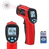 RAGU Non Contact Infrared Thermometer Instant Read Digital Temperature Gun, -50°C ~ 380°C ( -58°F~716°F), with Ajustable Emissivity Technology