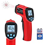 RAGU Non Contact Infrared Thermometer Instant Read Digital Temperature Gun, -50°C ~ 380°C ( -58°F~716°F), with Ajustable Emissivity Technology