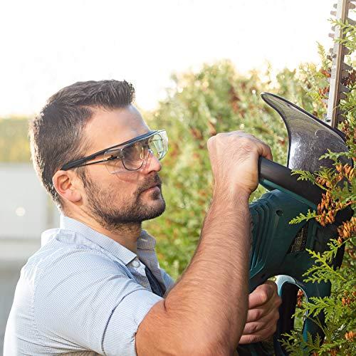 NoCry Over-Spec Lunettes de sécurité avec verres rayures enveloppante, avec certification ANSI Z87et OSHA et branches réglables et protection contre les rayons UV 400, Noir et Orange 3
