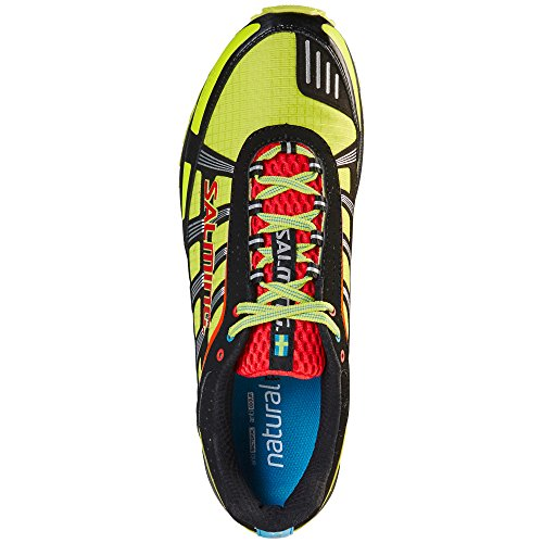 Chaussures Salming Trail T2 Jaune Fluor-Noir 2016