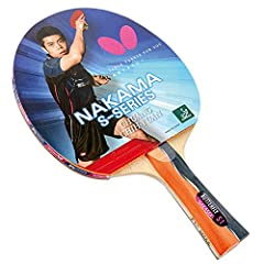 The Nakama S-1 is a professional ping pong paddle that is made with carbon layers in the wood and Sriver rubber giving you the edge with extreme spin, speed, and sweet spot. Butterfly table tennis rackets are the most preferred rackets by pro...