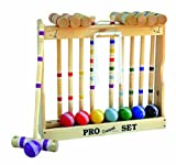 Amish Crafted Pro Croquet Game Set, 8 Player (24'' Handles)
