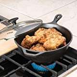 Lodge Logic Cast Iron Deep Skillet with Glass