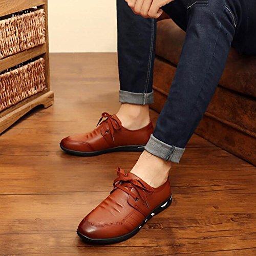 De Bureau Up Chaussures Chaussures Conduite Marche De De Carrière Men'sspring De Formelle Chaussures Brown Occasionnels Sport De 41 Hommes Fall Et FBA74