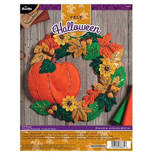 Bucilla 86831 Fall Wreath Wallhanging Kit