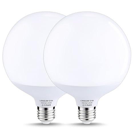 profiter de prix pas cher vente moins chère gamme de couleurs exceptionnelle LOHAS 20W E27 Ampoule LED Globe Lampe Bulb Spotlight 1800lm Equivalente  Incansdance 140W 2700K Blanc chaud, Non Dimmable