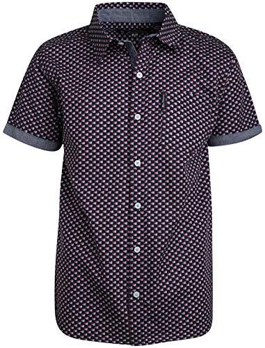 (Ben Sherman Boys Short Sleeve Button Down Shirt (Navy/Pattern, 18)')