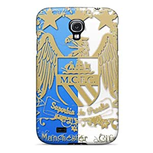 LavernaCooney Samsung Galaxy S4 Scratch Resistant Hard Cell-phone Cases Customized Lifelike The Logo Of Manchester City Skin [oVS10095dBKO]
