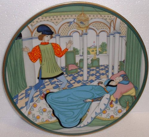 - Sleeping Beauty Plate; Heinrich Fairyland Lovers by Edmund Dulac