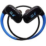 Andoer Wireless Sport Headphones,SM828 IPX7 Waterproof Headphones Earphone Functions with Bluetooth 16GB MP3 Player In…