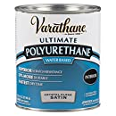 Rust-Oleum Varathane 200241H 1-Quart Interior Crystal Clear Water-Based Poleurethane, Satin Finish